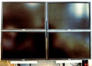 quad-screen videowall